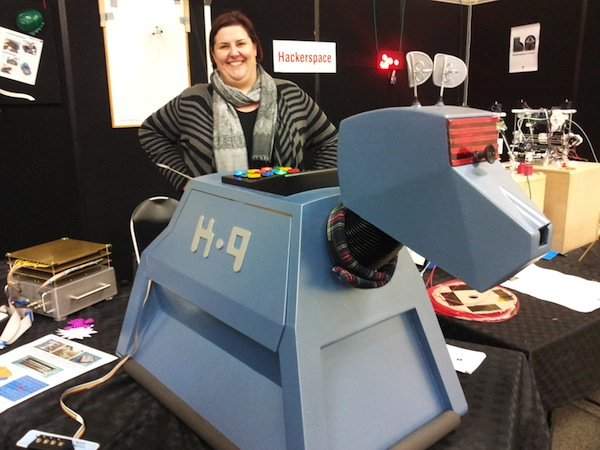 Alison and K9 at the HackADL stand at the Royal Adelaide Show