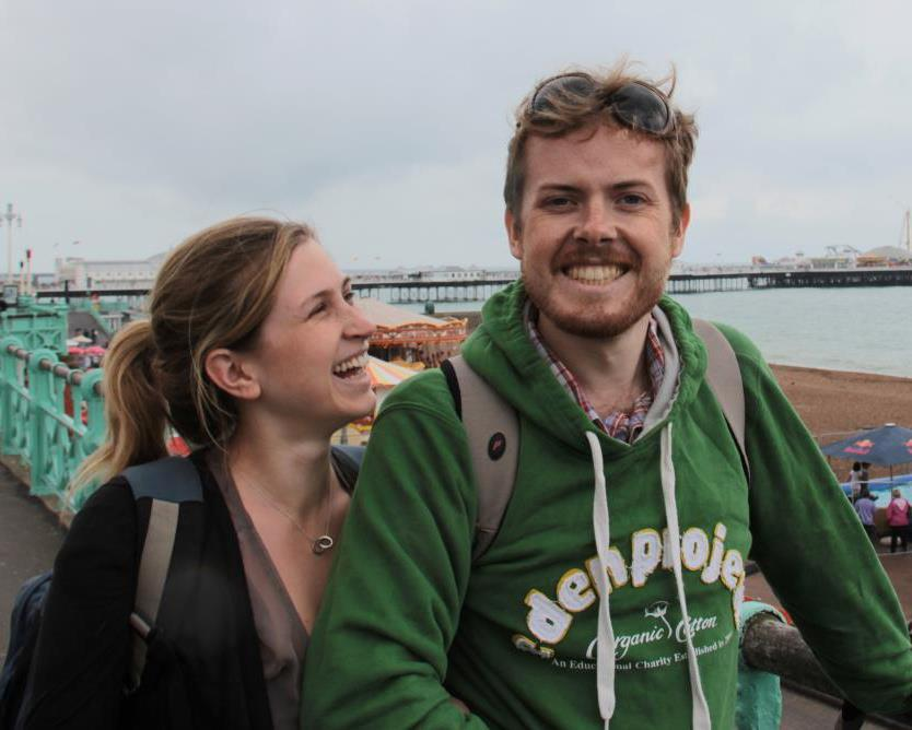 James and his sister Clem in Brighton