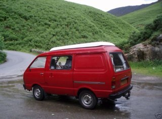 "one of my past campervans, aka ""little bus"""