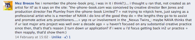 snippets from NAVA rejection conversation on Facebook [3]