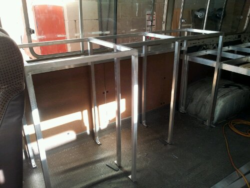 frame with new side panels behind it