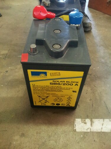 one of the battery blocks